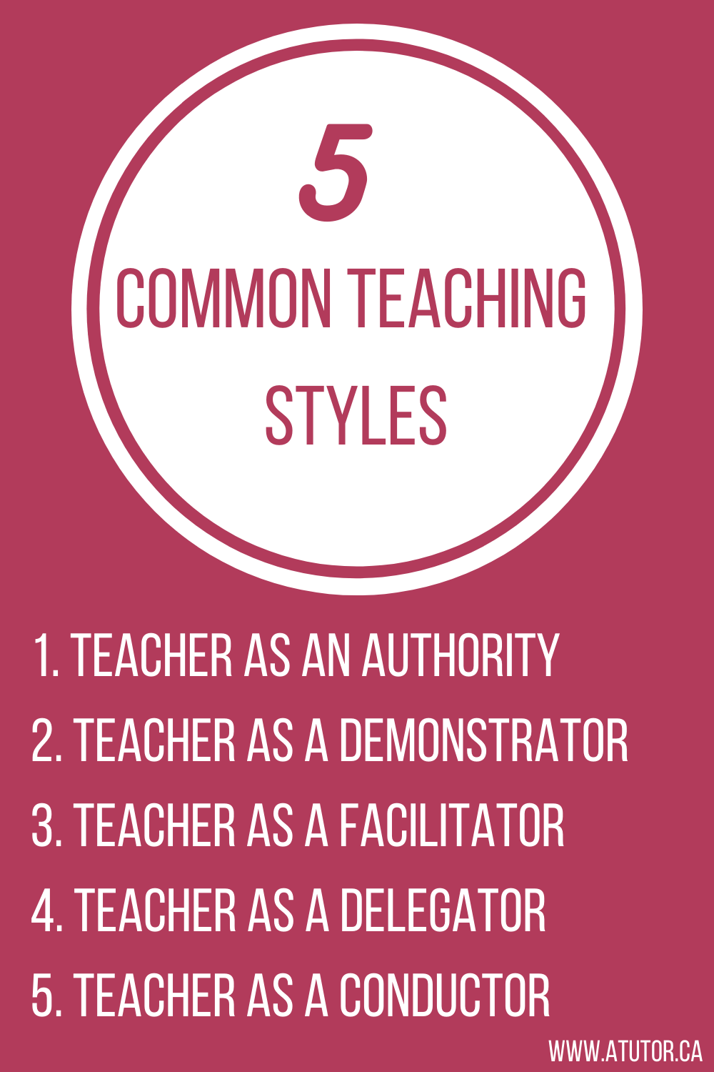 5 teaching styles