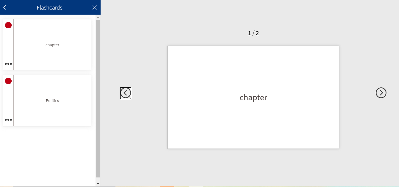 RedShelf chapter study tools