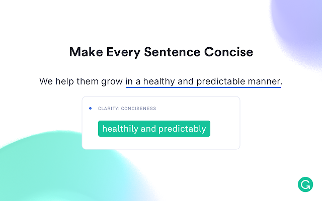 grammarly sentence concise