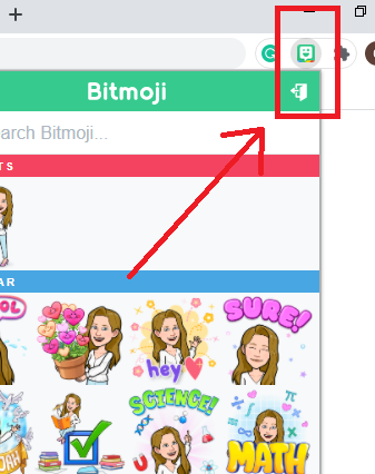 Bitmoji Google Chrome extension
