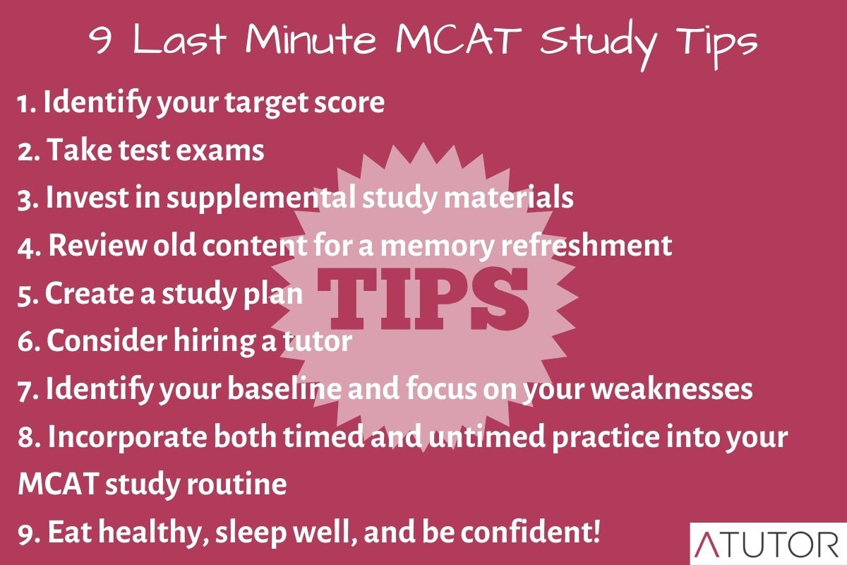 mcat study tips