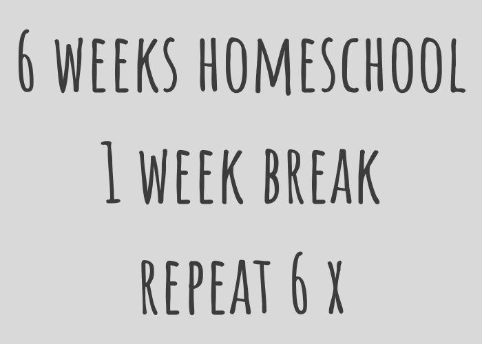 six weeks homeschooling