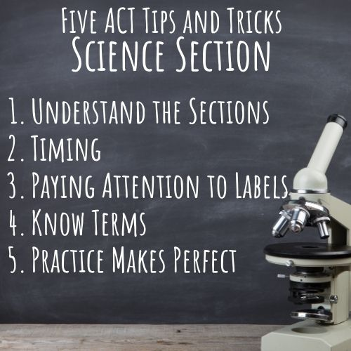 tips for ACT science section