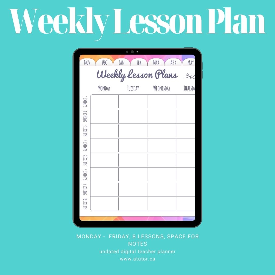 weekly lesson plan
