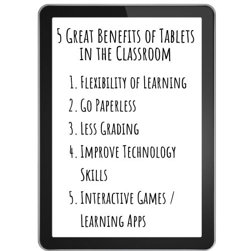 5 benefits of tablets in classroom
