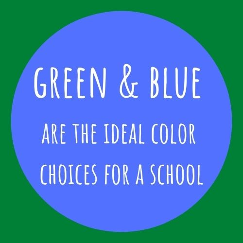 green and blue colors for school