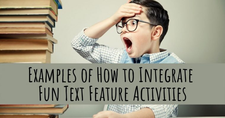 Examples of How to Integrate Fun Text Feature Activities