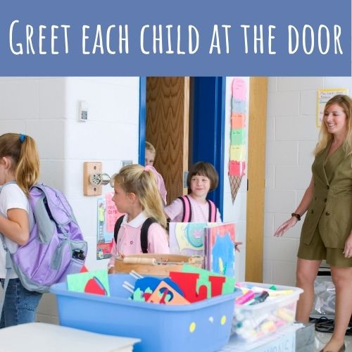 greeting students at the door for a positive learning environment