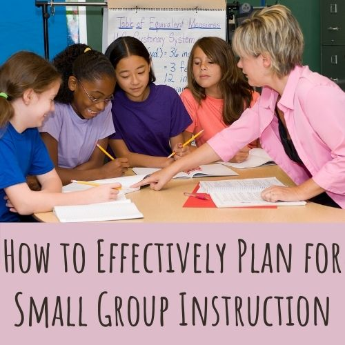plan a small group instruction