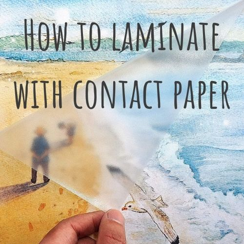 laminating with contact paper