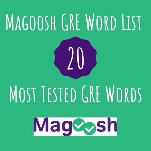 most tested GRE words